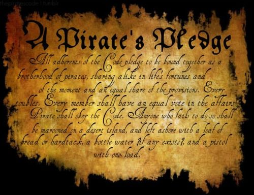 Pirate Code of the Brethren | ... notes tags potc pirates pirates of the caribbean a pirates pledge