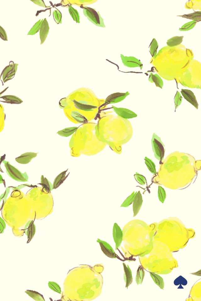 Kate Spade, iPhone background, March, lemons, pattern  March_640x960.jpg 640×960 pixels