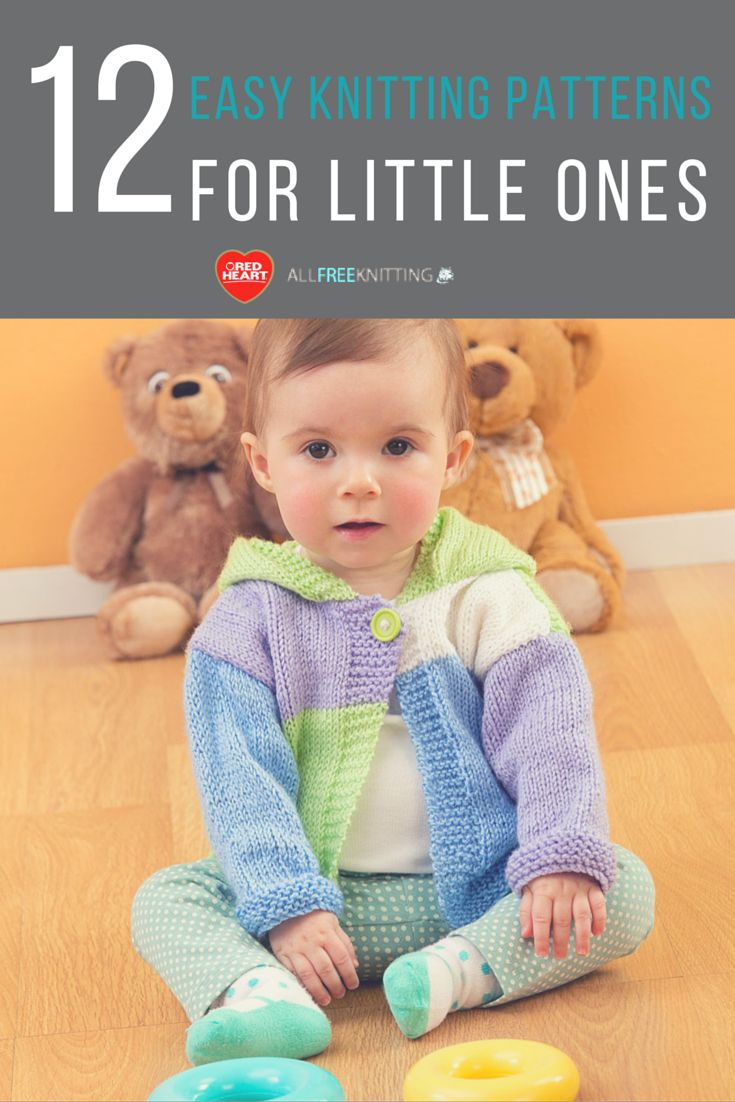 587 best knitting small people images on pinterest baby knits red heart patterns for baby 12 easy knitting patterns for little ones bankloansurffo Images