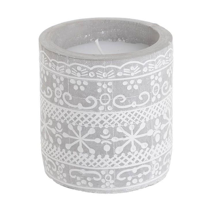 Paraffin Candle In Cement Holder - Candles - Aromatics - DECORATIONS - inart