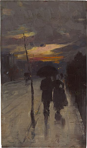 Tom Roberts - Going home -1889