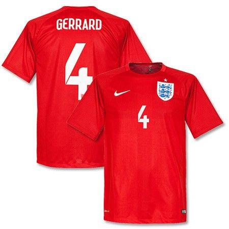 38307d89775 Germany National Team Sphere T Mens FIFA World Cup 2014 England Steven  Gerrard 4 Away Soccer Jersey ...