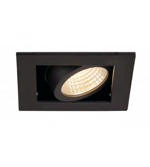 Inbouw spot Kardan 230 Volt 1x LED spot Zwart 3000K Dimbaar