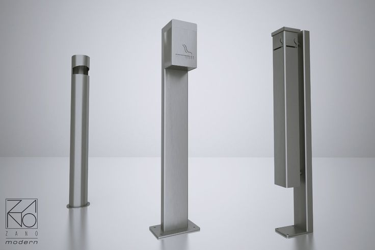 Cigarette bins for modern places...