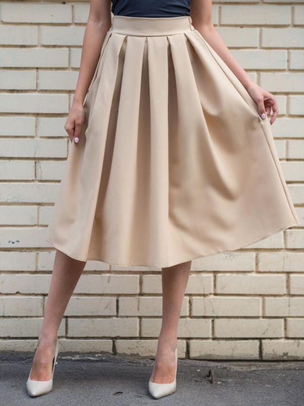 Как сшить юбку большими складками