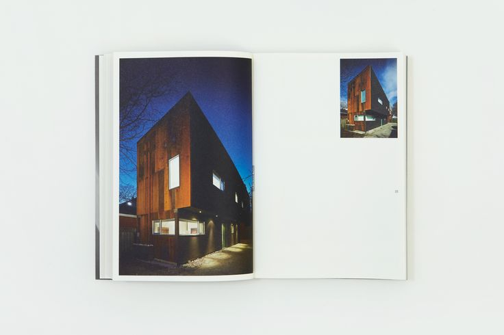 Rain, Gravity, Heat, Cold, a book designed by Blok celebrating the first ten years of Canadian architecture studio Superkül