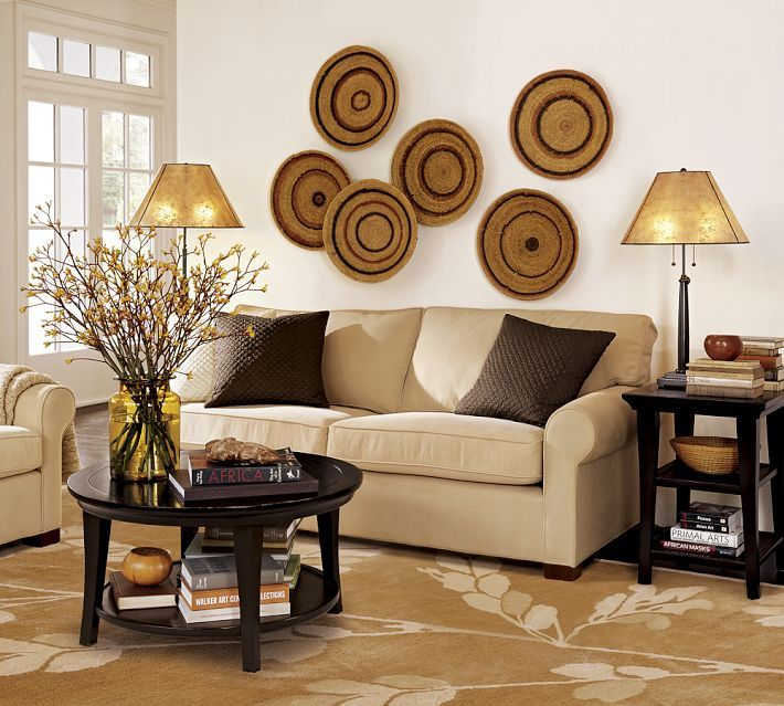 Decoration Nice Wall Decorating Baskets Simple And Chic Rattan As Multifunction Bedroom