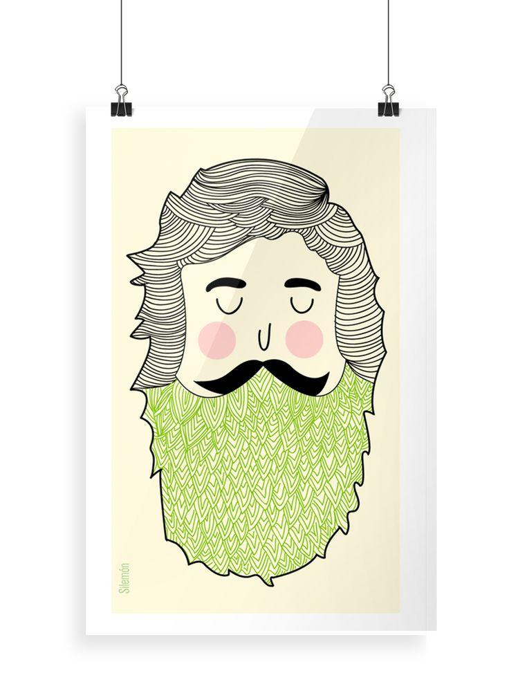 Ilustración: El hombre de barba verde
