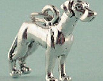 Great Dane Honden Sterling Zilver 3D hangertje