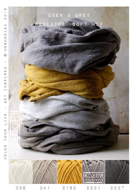 Kleurinspiratie Oker & Grey / ByClaire Soft Mix
