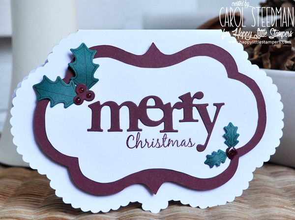 Inky Fingers: Papertrey Ink and Happy Little Stampers Christmas card