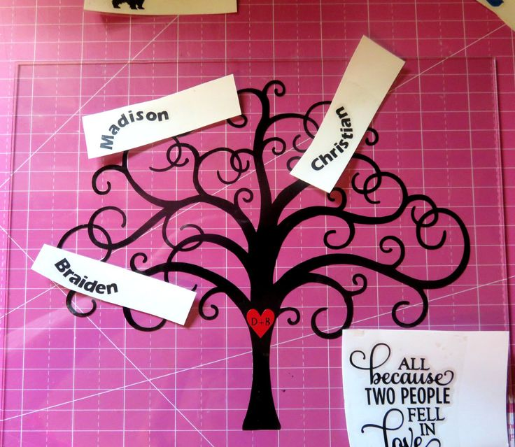 Diy Family Tree With Vinyl By My Paper Craze Silhouette