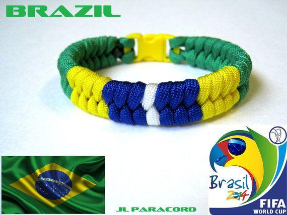 Brazil Team Paracord Bracelet by JLParacordGear on Etsy, $8.50