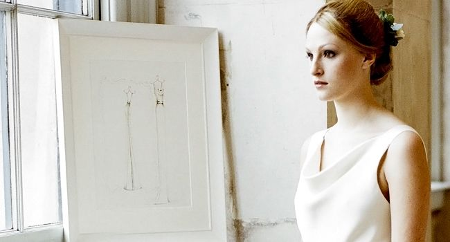 Ella Dress – Pencil | Pretty as a Picture. Gorgeous sketch of wedding dress by Ailbhe Ryan of Pretty as a Picture. #weddingdress #weddingdresssketch #beautifuldress #prettyasapicture #weddingdressportrait