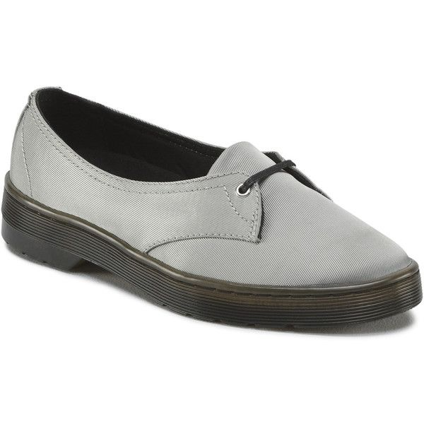 Dr. Martens Morada Casual Shoes ($45) ❤ liked on Polyvore featuring shoes, flats, silver, ballet pumps, ballerina flat shoes, shiny shoes, ballet flat shoes and ballet shoes flats