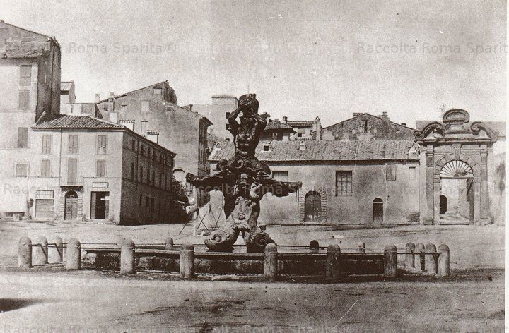 Piazza Barberini Fontana del Tritone Anno: 1860 ca.