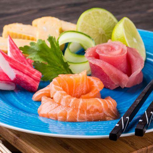 //Lazac és vörös tonhal sashimi