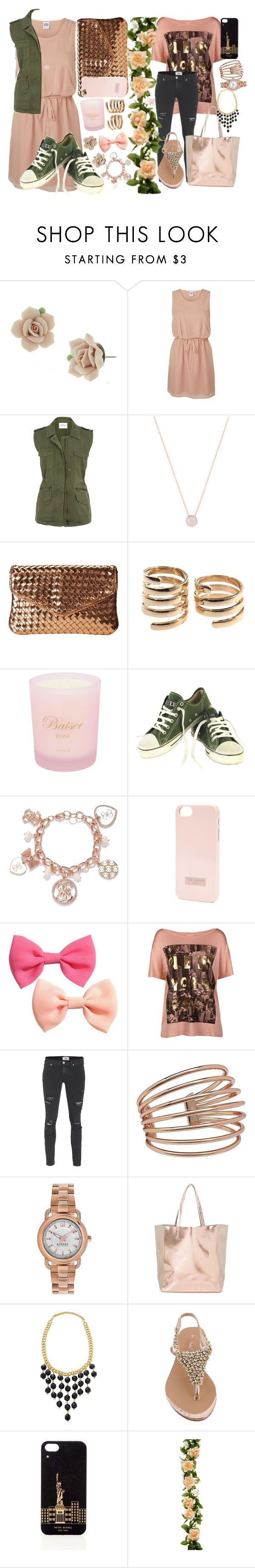 """Rose gold is the best gold"" by nkb11-11 ❤ liked on Polyvore featuring 1928, Vero Moda, Gemma Crus, Deux Lux, Aamaya by priyanka, Ethletic, GUESS, Ted Baker, H&M and Paige Denim"