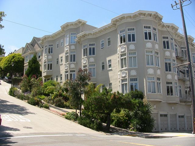 Residential area of Russian Hill, San Francisco