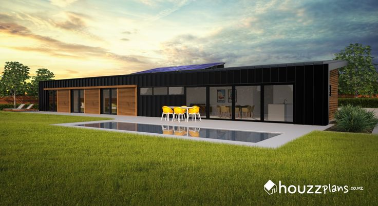 Bezar - Modern Contemporary House Plan .... Browse all house plans here: www.houzzplans.co.nz