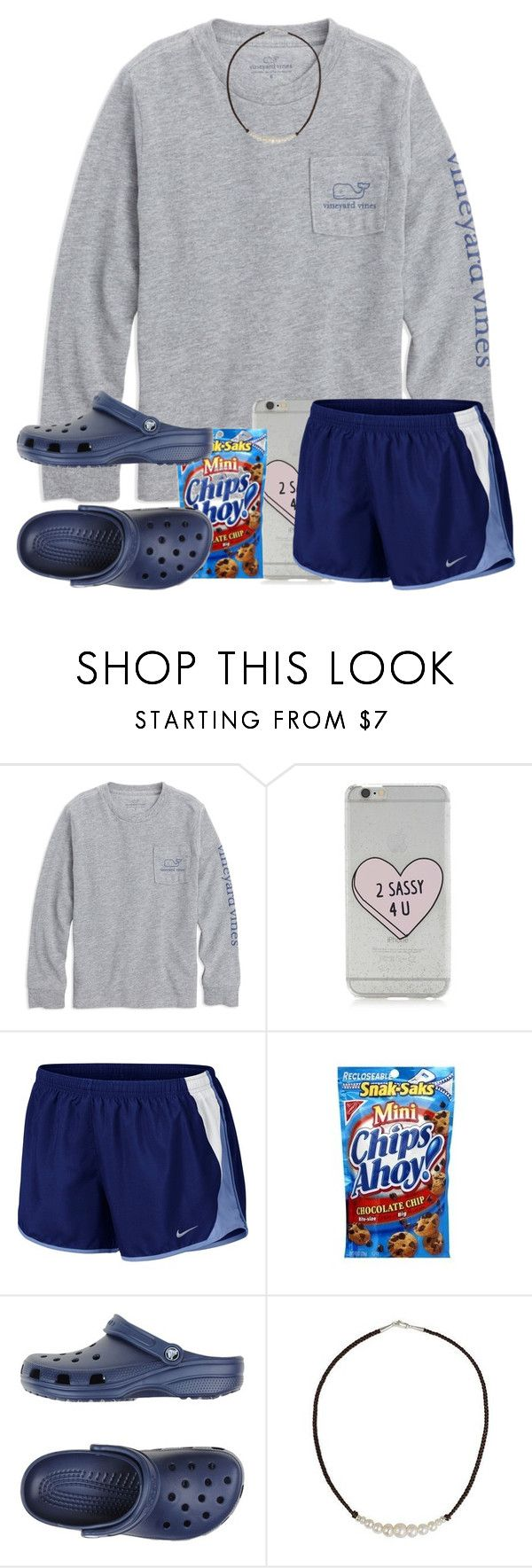 """crocs rock!! #Draft"" by arieannahicks ❤ liked on Polyvore featuring Forever 21, NIKE, Crocs and NOVICA"