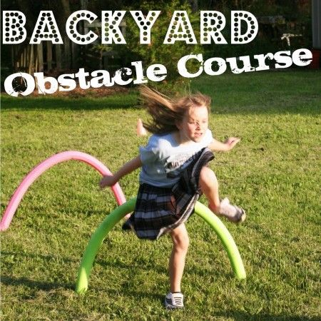 Ideas for making a backyard obstacle course guaranteed to wear the kids out; no special equipment needed. From 'This Ain't The Lyceum'