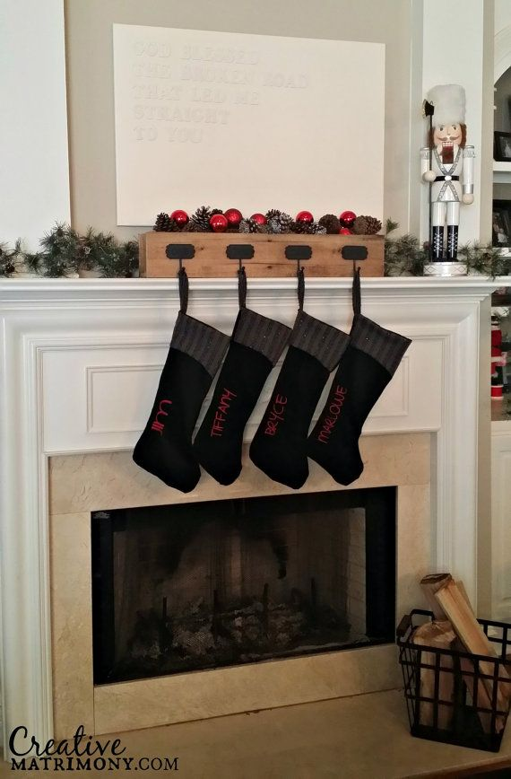 best 25 mantle stocking holders ideas on pinterest stocking hangers for mantle christmas. Black Bedroom Furniture Sets. Home Design Ideas