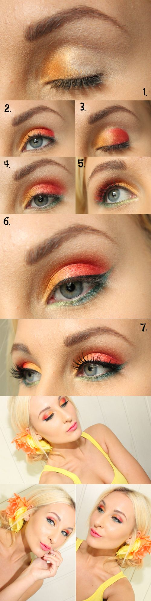 step by step tropical makeup