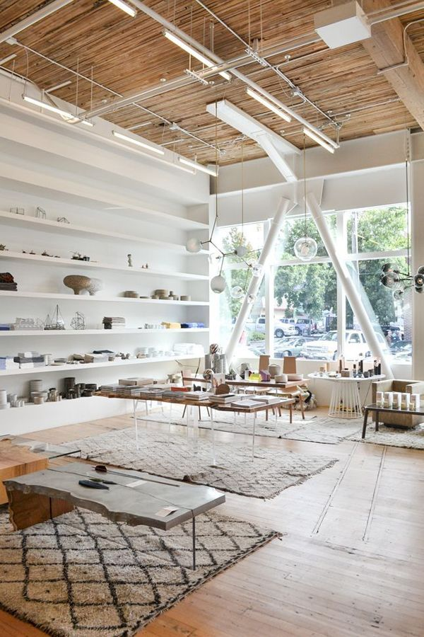 Oh my goodness this is the most gorgeous space ever.  The light, the ceiling, I love it all!