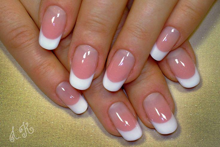 Овальная форма ногтей френч фото, видео - френча на нарощенных ногтях