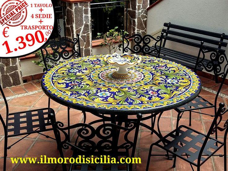 Il Moro di Sicilia | Ceramica, Decorazioni, Tavolo esterno