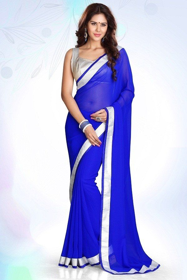 Designer Bollywood Indian Traditional Partywear Royal Blue