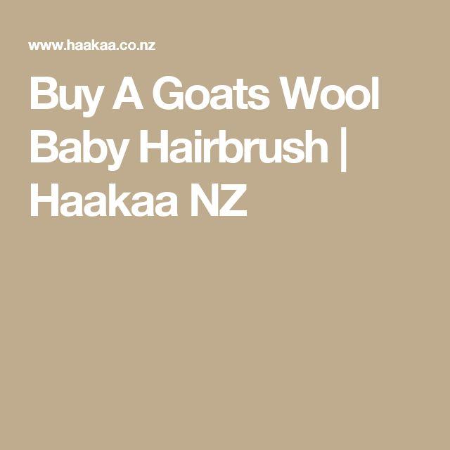 Buy A Goats Wool Baby Hairbrush   Haakaa NZ