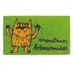 """Felpudo original """" Monstruos bienvenidos"""". El monstruo de lo colores."""