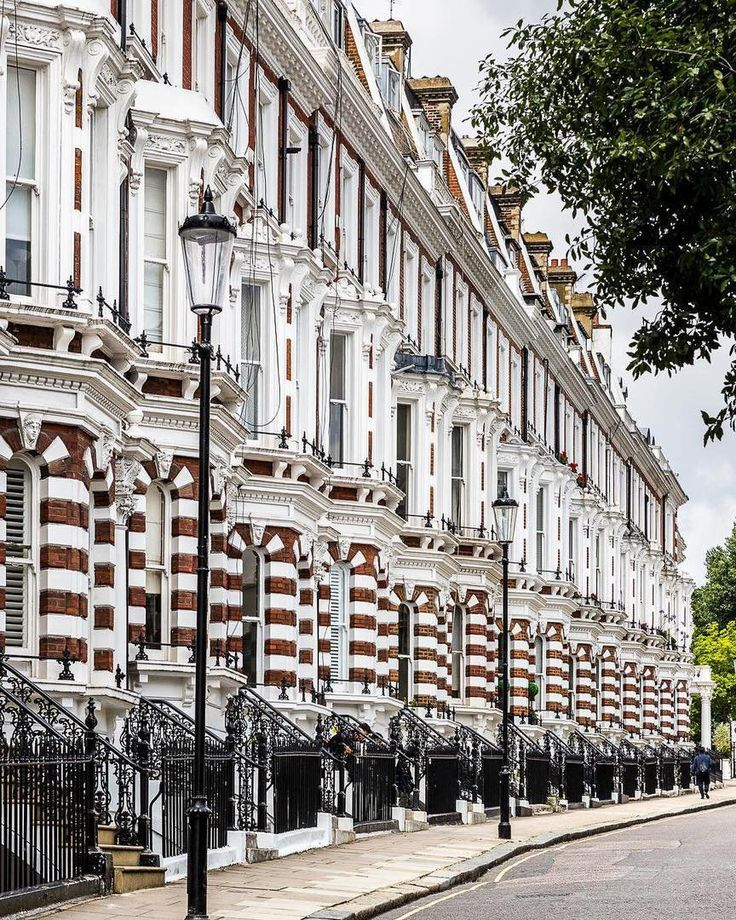 This candy-cane row of houses in Kensington London puts a smile on my face every time