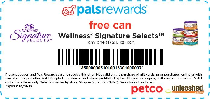 PetCo Coupon August 2013 - Free Cat Food! We have HOT new PetCo coupon for you this afternoon. You will be able to score a free can of cat food! This is a