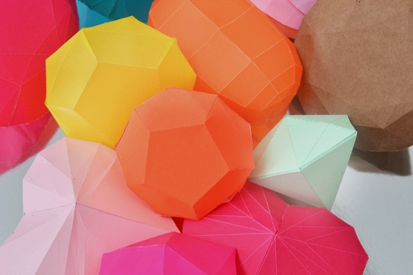 Paper folding DIY diamonds.