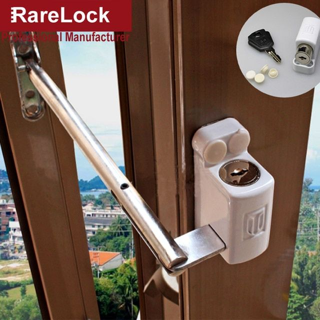 Rarelock Ms91 Baby Safety Window Chain Lock For Balcony Glass Sliding Door Bathroom Accessories Home Security Har Sliding Glass Door Sliding Doors Hardware Diy