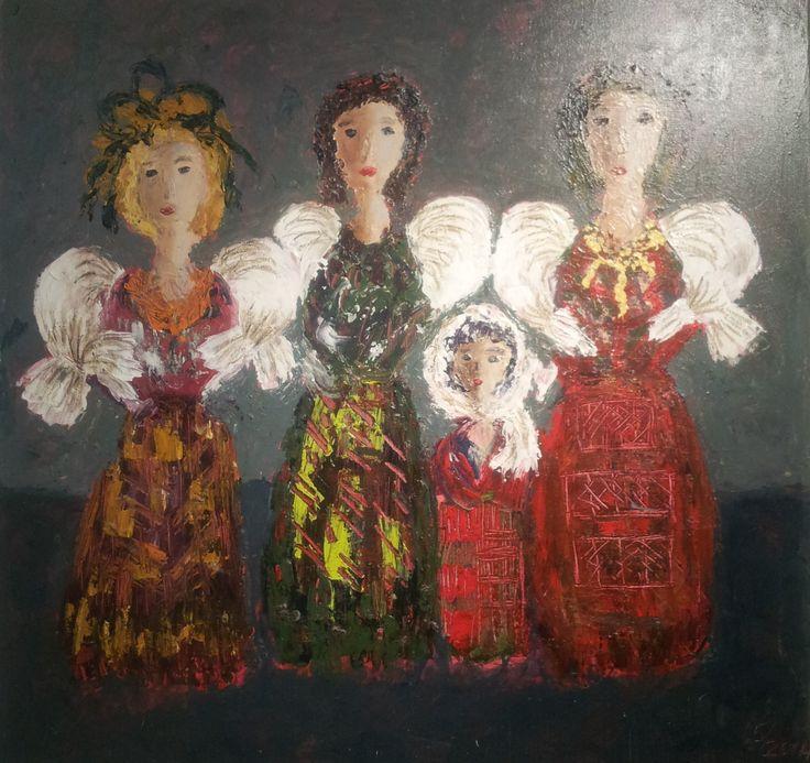 Toile LES FIANCAILLES - Magdalena Keresztes, artiste peintre à Amiens