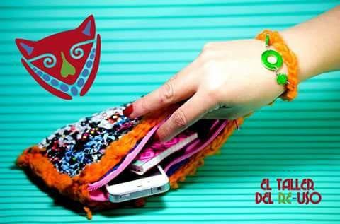 Cartera en bolsa de leche #CrochetBolsa Recycle