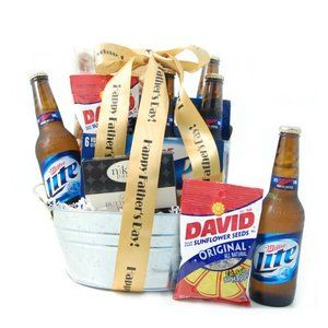Father's Day Beer and Salty Snacks Gift Basket
