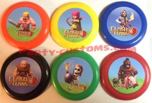 1 Dozen mini frisbees Clash of Clans | Party-Stop - Novelty on ArtFire