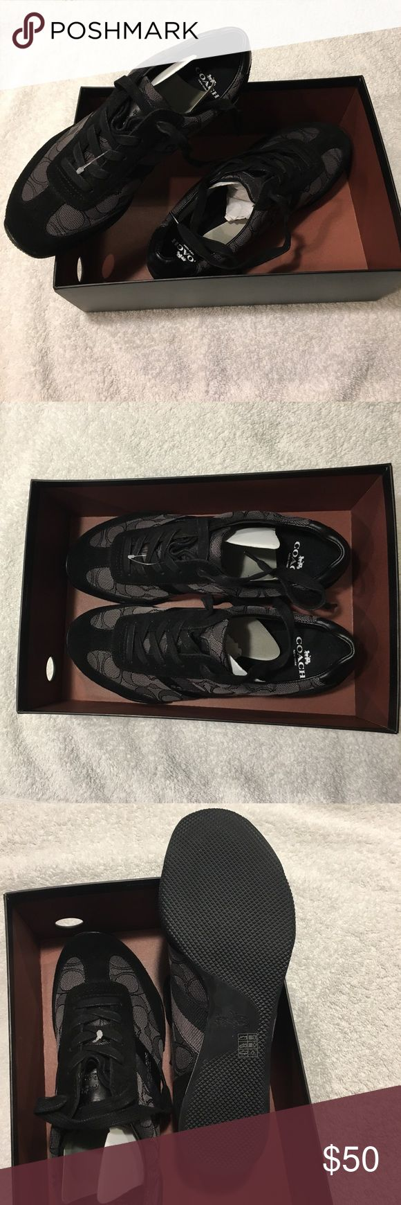 Coach sneakers New with tags! Never worn, Brand new Coach sneakers. In original box. Very comfortable! Coach Shoes Athletic Shoes