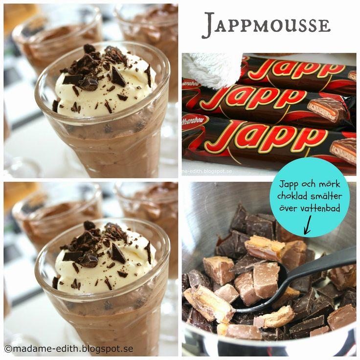 Madame Edith - Recept: Jappmousse