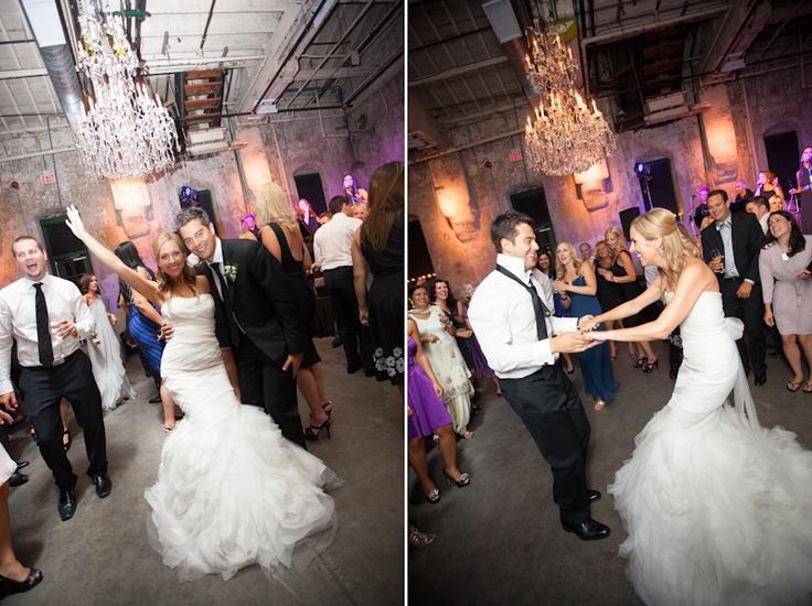 Fermenting Cellar bride and groom wedding reception dancing