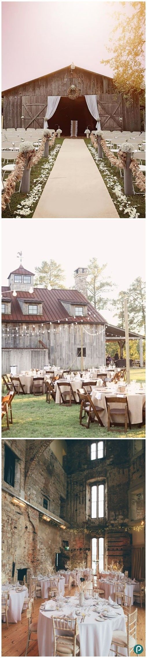 Beautiful rustic wedding set up! Great for either an indoor or outdoor wedding to celebrate your special day country style! #loverusticwedding