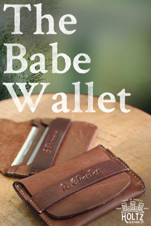 Holtz Leather's bestselling product makes the perfect holiday gift for him. The Babe Wallet is handmade from the finest of Full Grain American Leather. Personalize it with complimentary embossing and add a special message, name or initials.