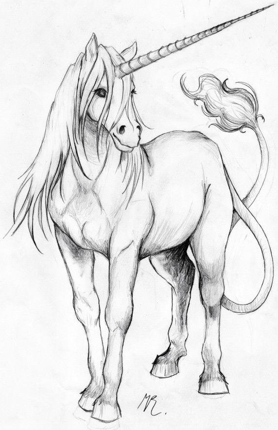 Unicorn by ~maryi on deviantART