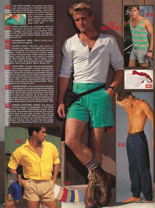 80s fashion mens shorts