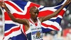 Mo Farah: BBC Olympics experts go crazy for win... BBC commentators Colin Jackson, Michael Johnson and Denise Lewis can hardly contain their excitement as Mo Farah wins the 10,000m Olympic gold.    Farah stormed to victory in 27 minutes 30.42 seconds to seal an extraordinary night for British athletics in the Olympic stadium.    (Click through to article and video -- available to UK users only)